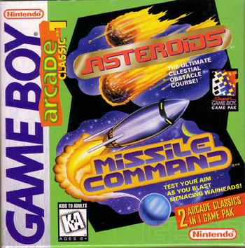 The Game Boy Database - Arcade Classic #1: Asteroids & Missile Command