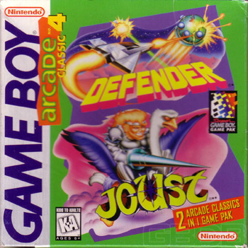 The Game Boy Database - Arcade Classic #4: Defender & Joust
