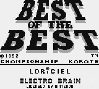 The Game Boy Database - Best of the Best Championship Karate