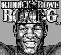 The Game Boy Database - Riddick Bowe Boxing
