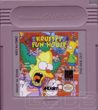 The Game Boy Database - Simpsons, The: Krusty's Fun House